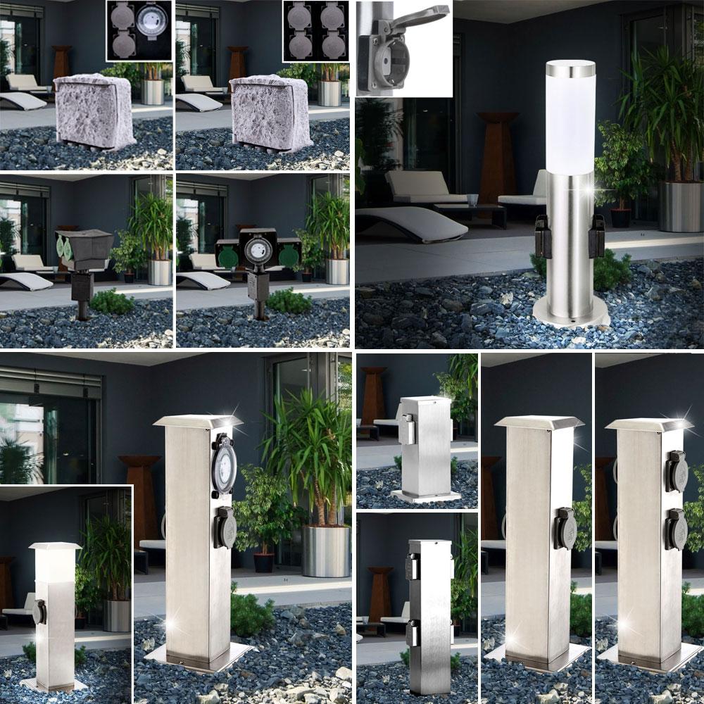 au en steckdose timer garten stand lampe erdspie strom s ule energie verteiler ebay. Black Bedroom Furniture Sets. Home Design Ideas