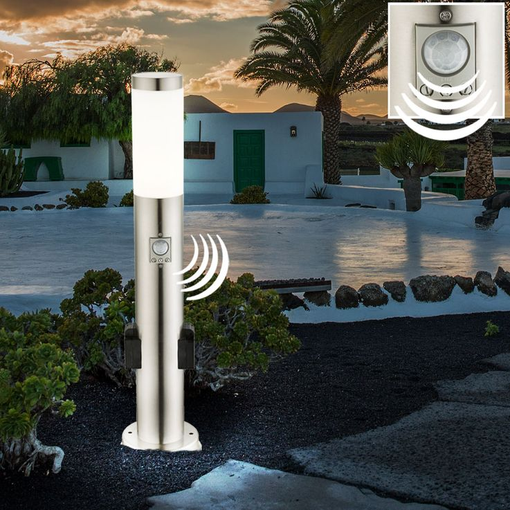 LED Power Distribution Outdoor Garden Porch Socket Stainless Steel IP44 Lighting Timer Sensor Motion Detector – Bild 16