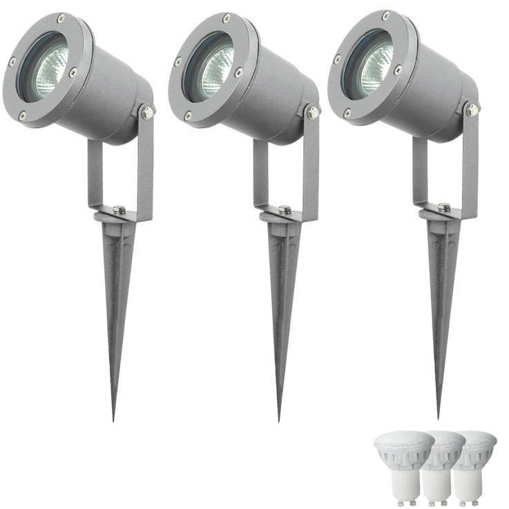 3er Set LED Steckleuchten aus Aluminium-Druckguss in silber – Bild 1