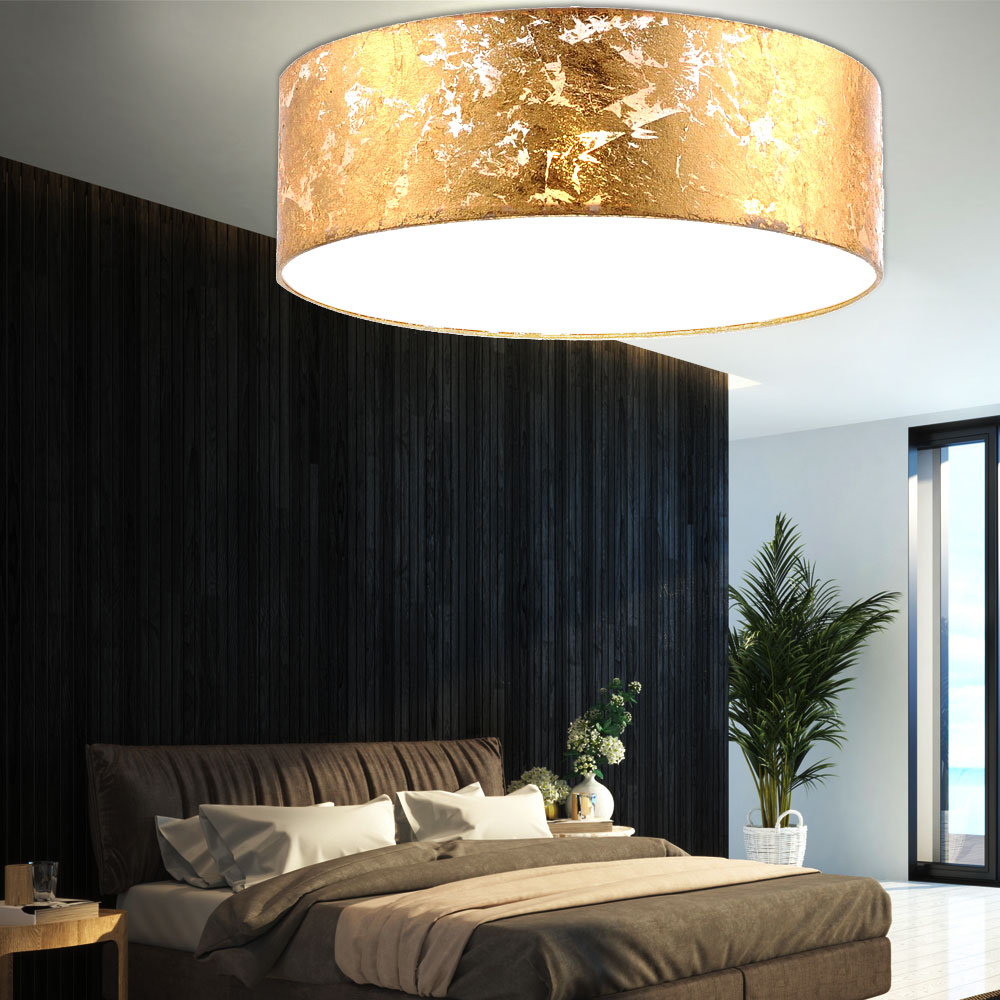 design rgb led h ngeleuchte deckenstrahler in gold. Black Bedroom Furniture Sets. Home Design Ideas