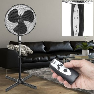 Ceiling table Standing stand Tower Fan Fan Remote control 3 stage timer Low noise rotation function Bestron – Bild 7