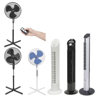 Ceiling table Standing stand Tower Fan Fan Remote control 3 stage timer Low noise rotation function Bestron – Bild 1