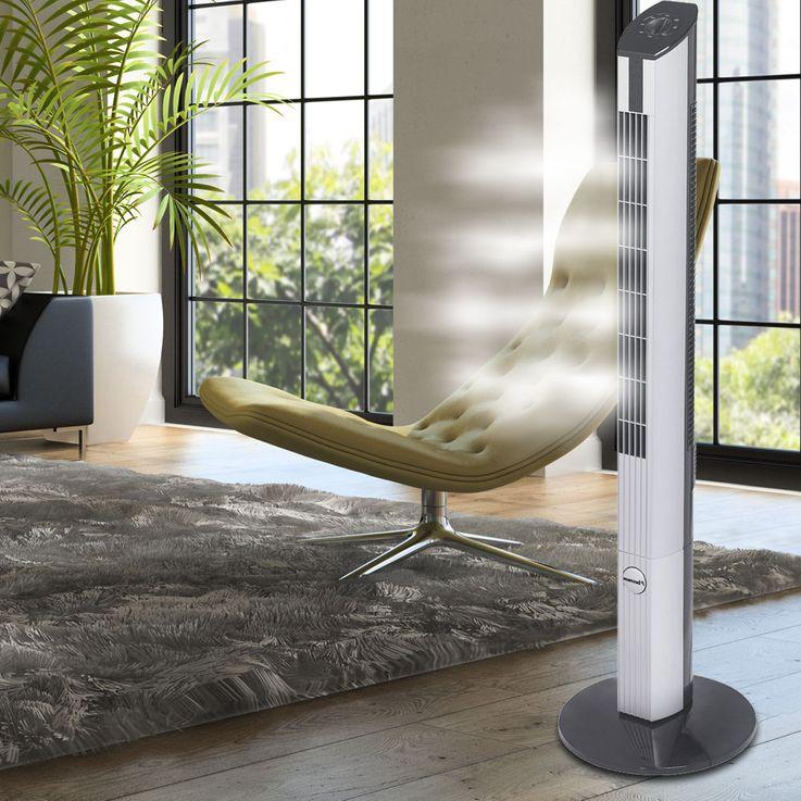 Tisch Steh Stand Tower Ventilator Lüfter Fernbedienung 3 Stufen Timer Geräuscharm drehfunktion Bestron – Bild 8