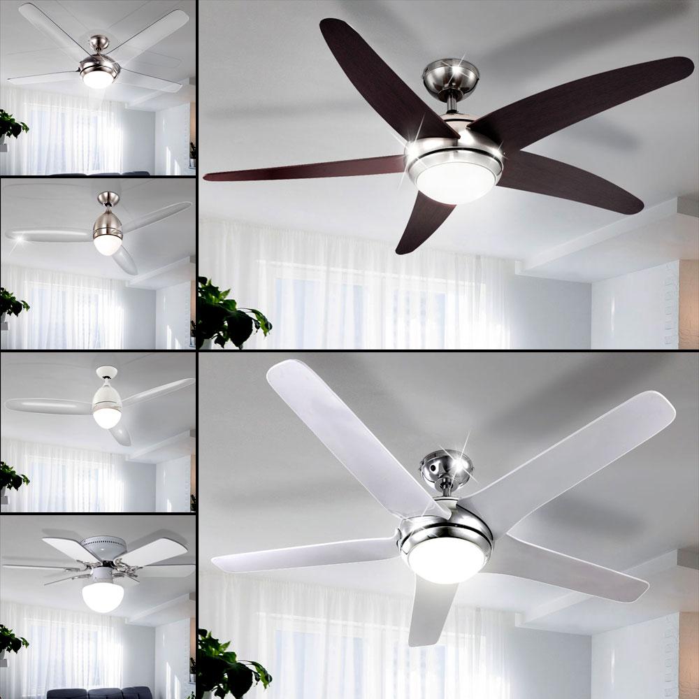 LED  Ventilator Decken Lampe Klima Lüfter Vor-Rücklauf Kühler Leuchte Küche Büro