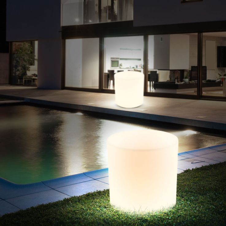 Robust outdoor lighting white E27 terrace seat surface chair light IP44 lamp Globo 84083 – Bild 7