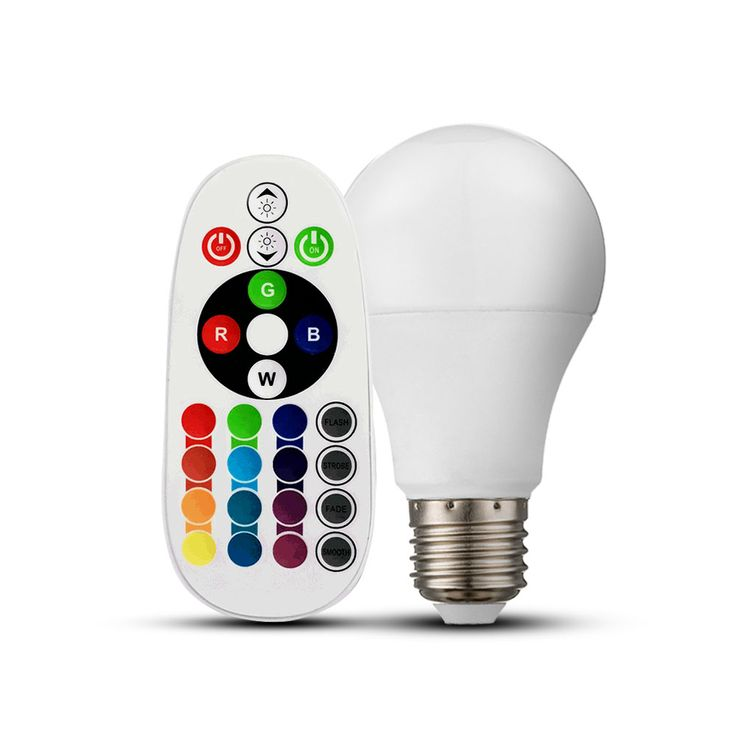 RGB LED 6 Watt Illuminant E27 Color Change 470 Lumen 4000 K Remote Control V-Tac 7325 – Bild 1
