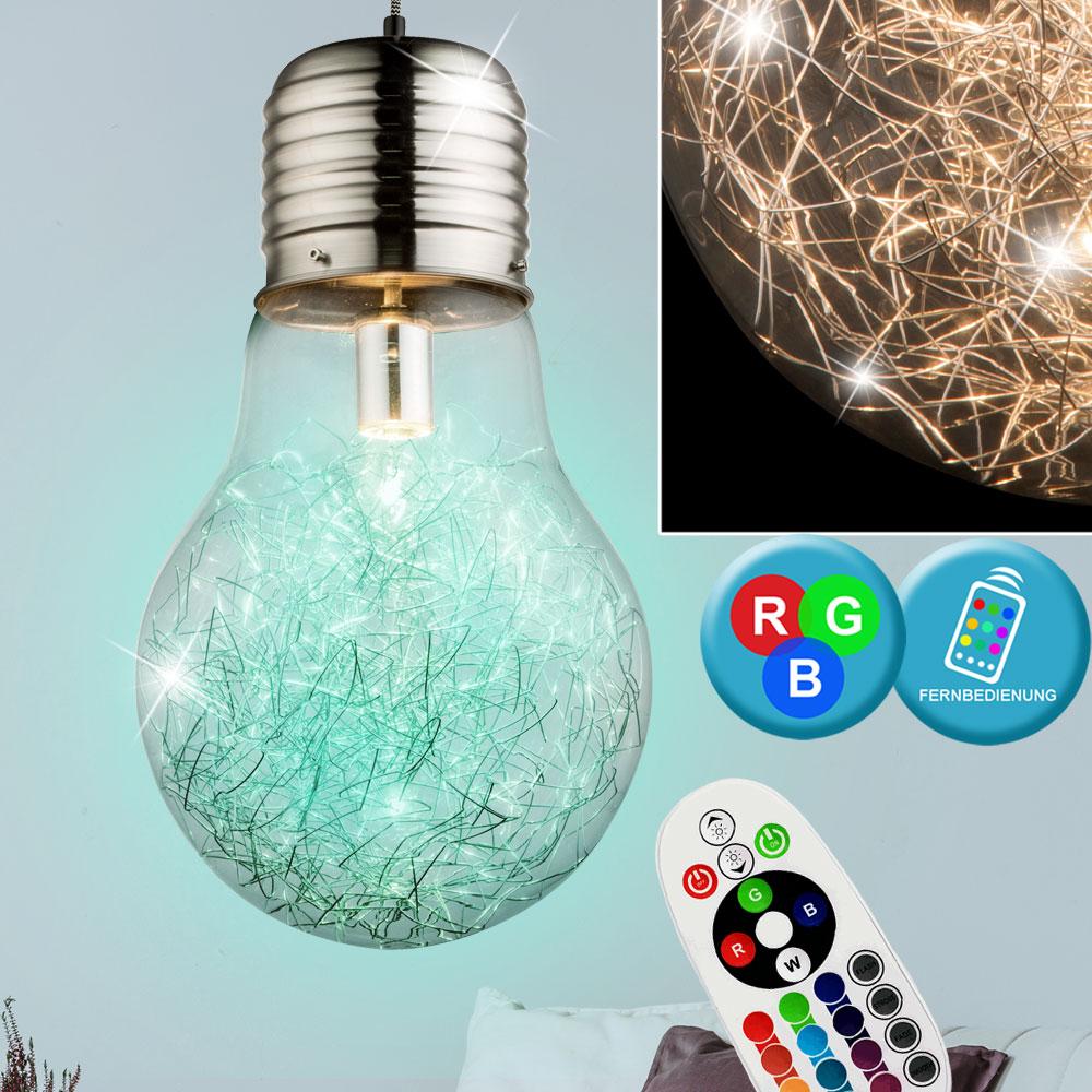 RGB LED Hänge Lampe Farbwechsel Pendel Leuchte 21 Watt