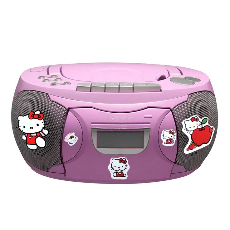 CD Player Stereo Radio Boxes Girls Kids Room Music Set included Hello Kitty Stickers included – Bild 1
