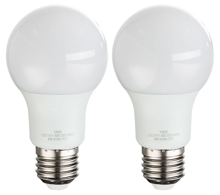 Set of 2 9 watt LED bulbs E27 ball 3000K bulb lamp 810 lumens EEK A + GLOBO 10600  -2 – Bild 1