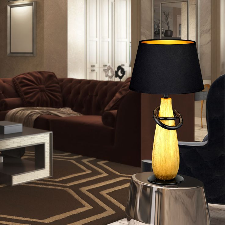 RGB LED table lamp in gold or silver color with switch – Bild 10