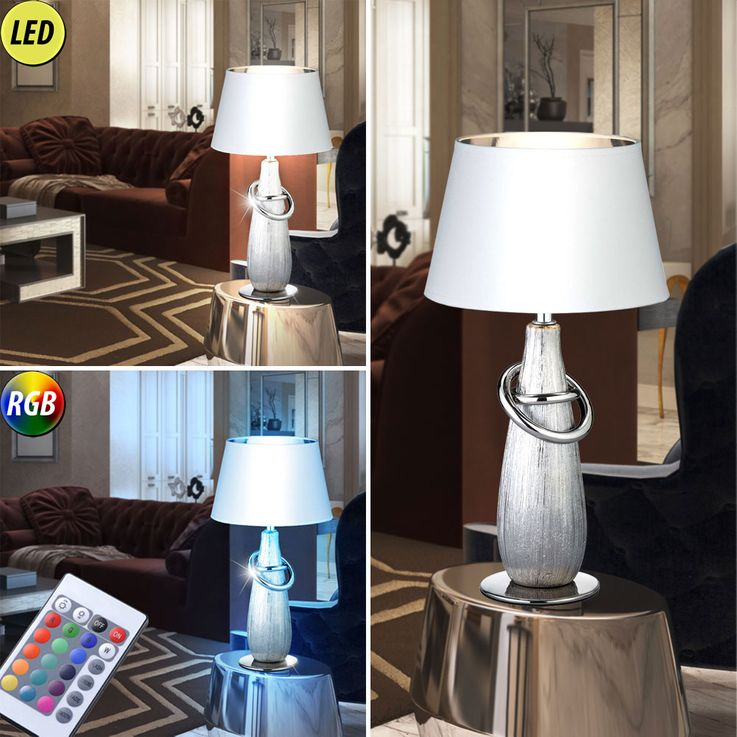 Lampe de table LED RGB en or ou en argent avec interrupteur – Bild 4