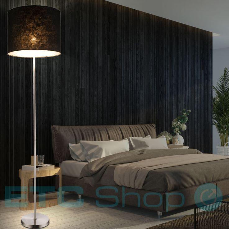Floor lamp Ceiling flush Dining room floor lamp Textile umbrella black round Globo 15288S – Bild 3