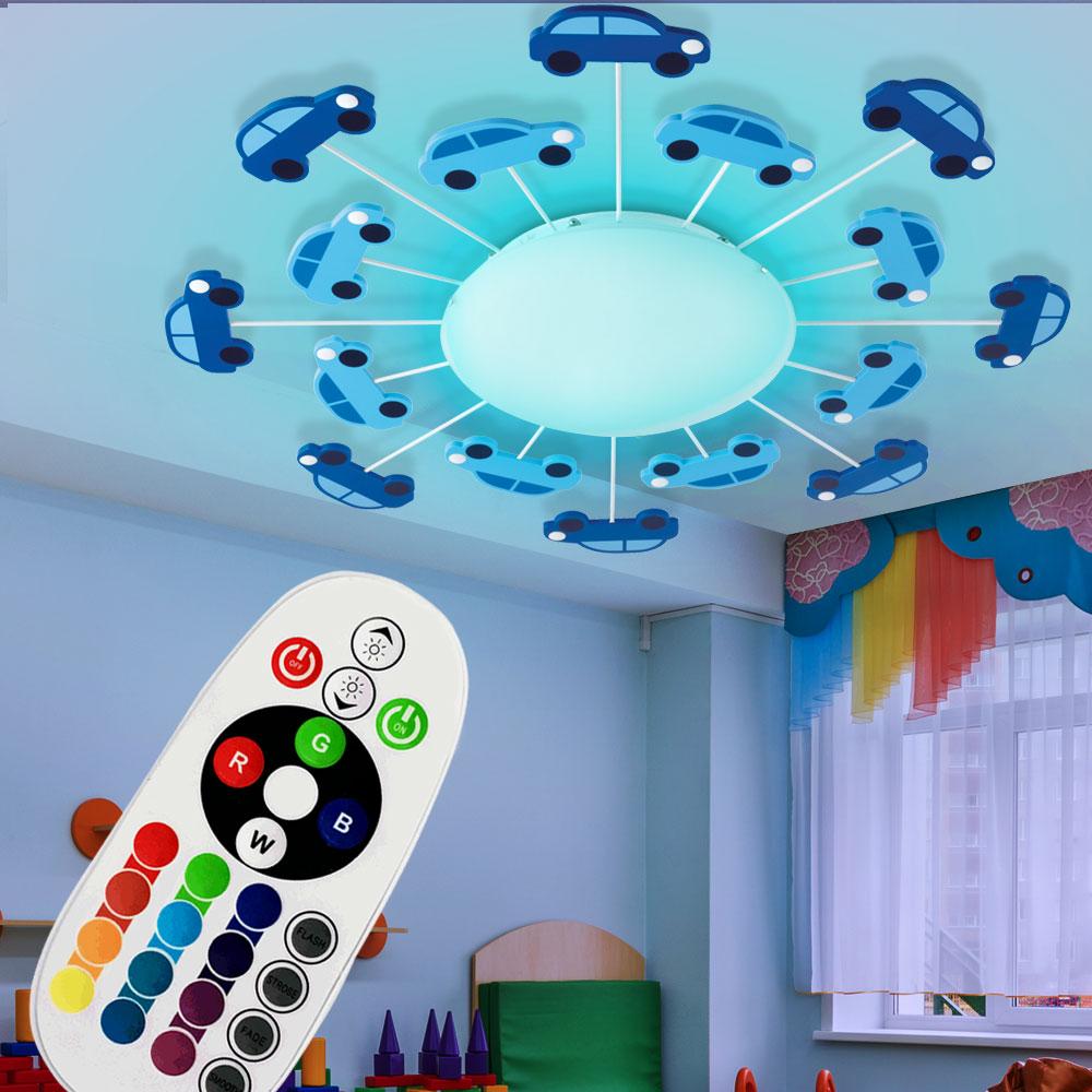 rgb led decken wand lampe dimmbar kinder spiel zimmer. Black Bedroom Furniture Sets. Home Design Ideas