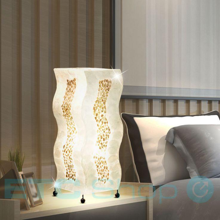 Table lamp living room reading lighting switch floor lamp mollusk mosaic brown Globo 25822T – Bild 3