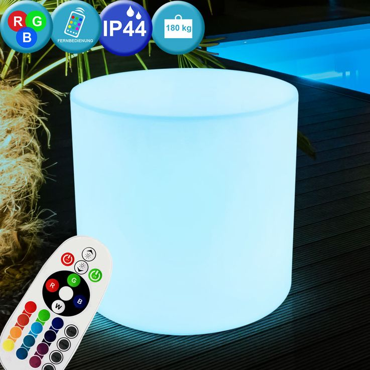 Outdoor lighting remote control seat surface chair luminaire IP44 in set including RGB LED illuminant – Bild 2