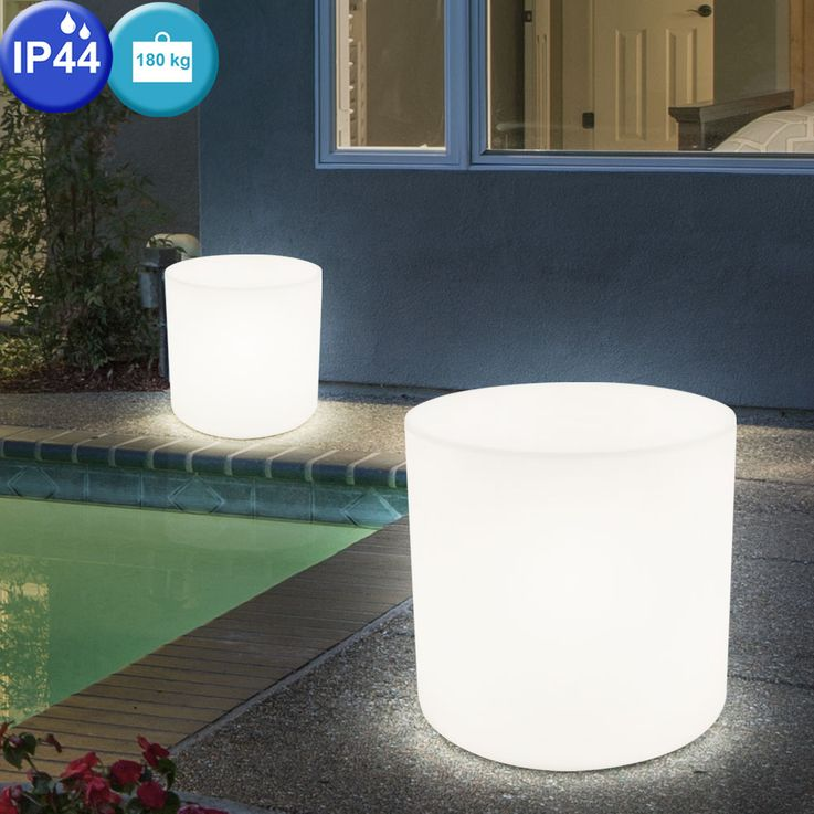 Set of 2 Outdoor lighting remote control seat surface chair luminaire IP44 in set including RGB LED illuminant – Bild 8