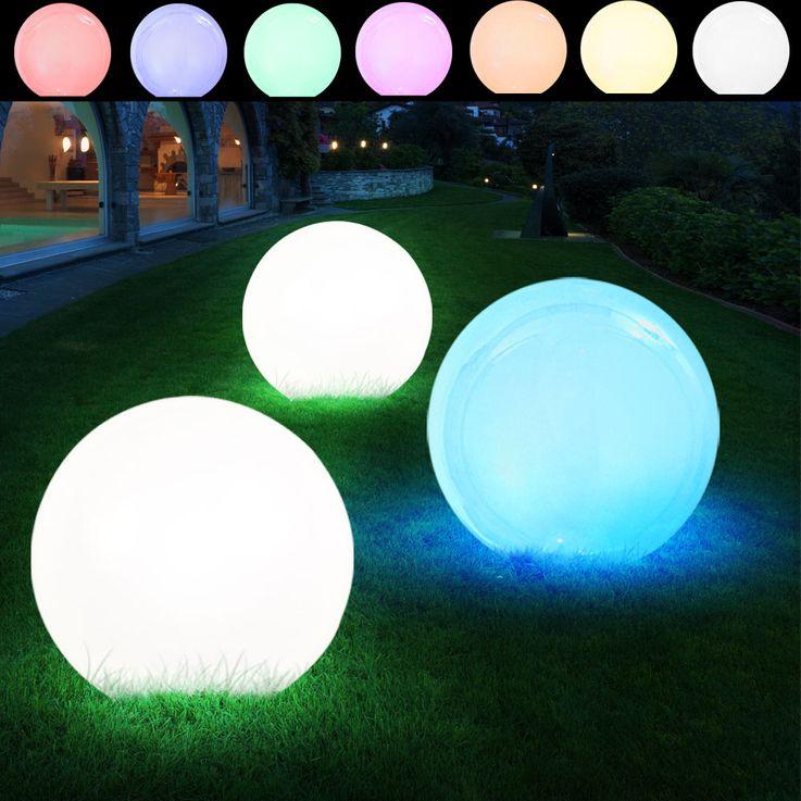 3er Set LED Solar Leuchtkugeln in verschiedenen Größen – Bild 2