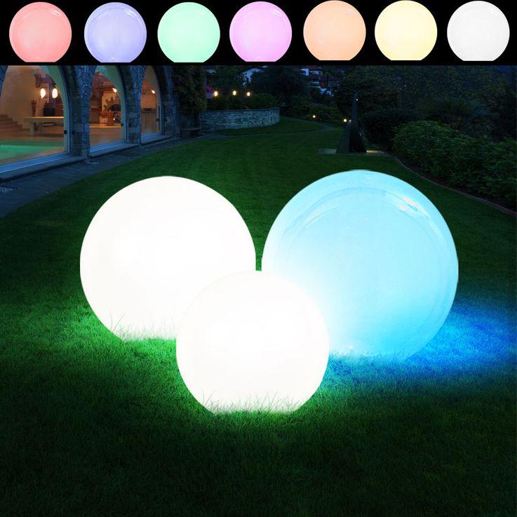3er Set LED Solar Leuchtkugeln in verschiedenen Größen – Bild 8