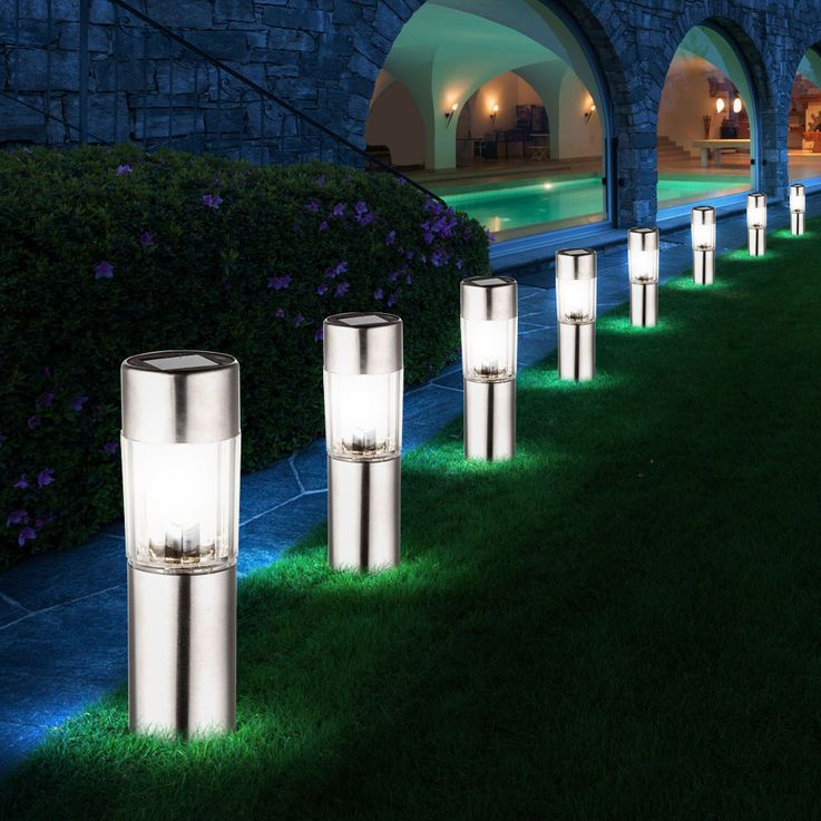 12 LED stainless steel solar lamps for outdoor use – Bild 4