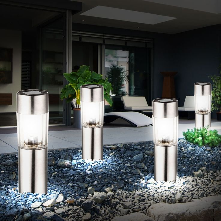 12 LED stainless steel solar lamps for outdoor use – Bild 3