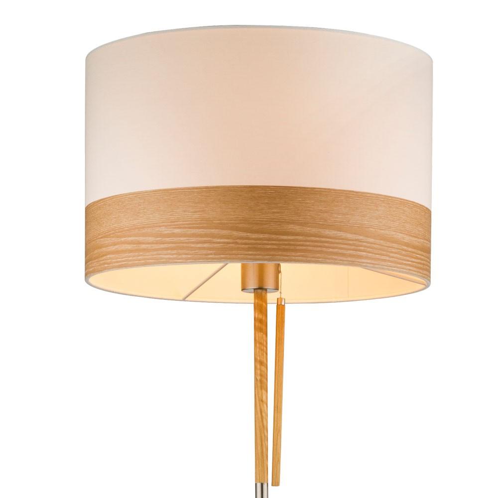 Luxus Led Deckenfluter Standleuchte Holzschirm Flur Stehlampe