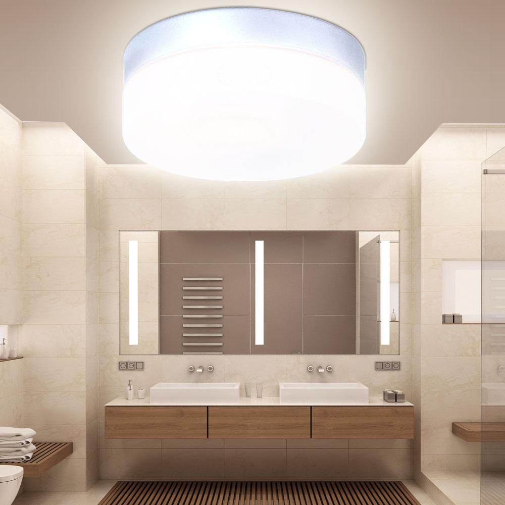 2er set led decken lampen badezimmer au en leuchten alu glas veranda beleuchtung ebay. Black Bedroom Furniture Sets. Home Design Ideas