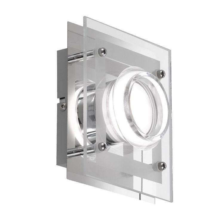 LED Wand Lampe Esszimmer Glas Chrom Strahler Küchen Beleuchtung EEK A+ WOFI 422301010000 – Bild 1