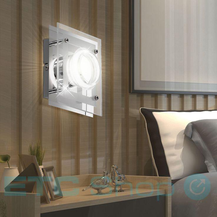LED Wand Lampe Esszimmer Glas Chrom Strahler Küchen Beleuchtung EEK A+ WOFI 422301010000 – Bild 2