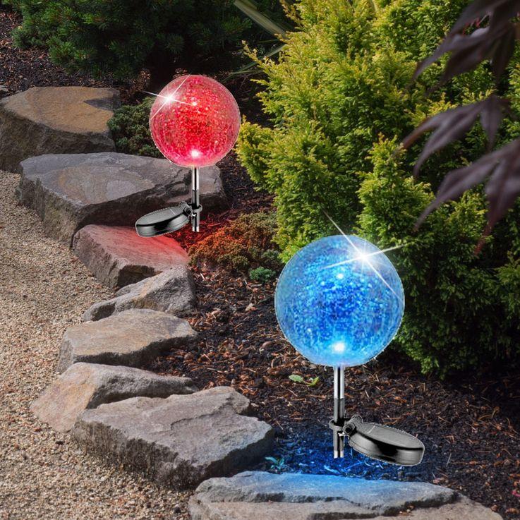 Lampe solaire LED RVB boule éclairage luminaire changeur de couleur terrasse jardin – Bild 5