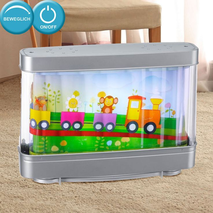 Design Table Lamp Children Room Light Railway Animals Running Lights Direct 85114-70 – Bild 2