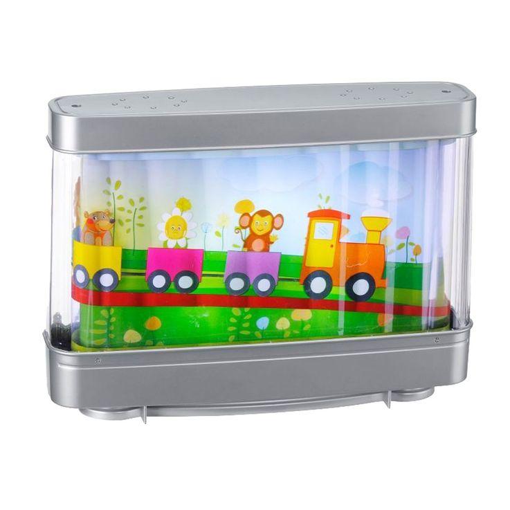 Design Tisch Lampe Kinder Zimmer Leuchte Eisenbahn Tiere Laufbild Leuchten Direkt 85114-70 – Bild 1