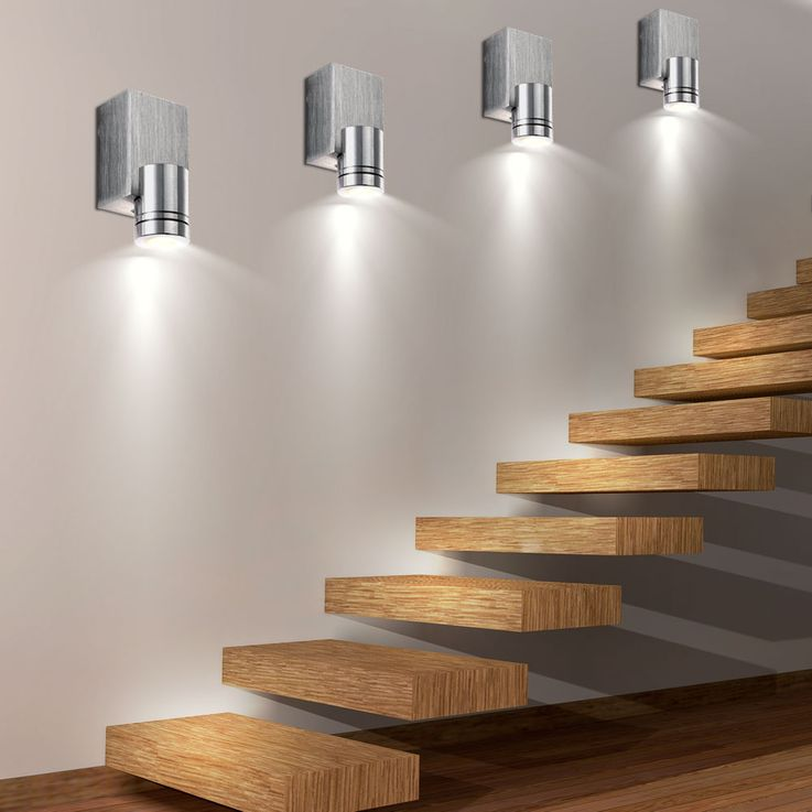 Set of 6 LED wall lights ALU for your living room GORDON – Bild 4