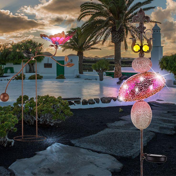 2er Set LED Solarlampen zur Dekoration des Außenbereichs – Bild 2