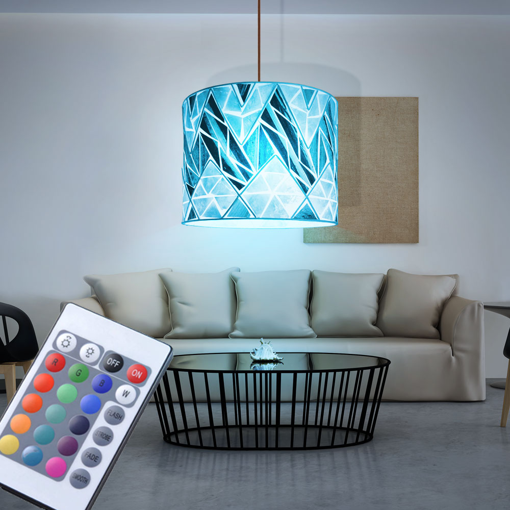 rgb led h ngelampe wohnzimmer mosaik fernbedienung muschel. Black Bedroom Furniture Sets. Home Design Ideas