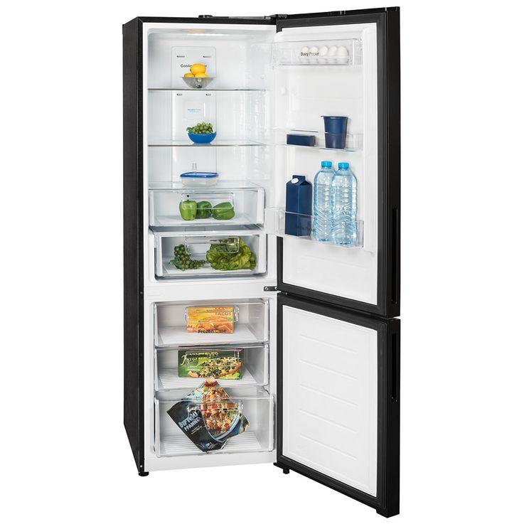 Kühl Gefrier Kombination Schrank Umluft A++ LED Licht Anzeige DAEWOO RT-332 FBG schwarz – Bild 2