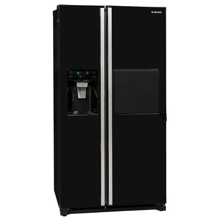 Side by Side refrigerator-freezer combination CRUSHED ICE water connection black DAEWOO – Bild 1