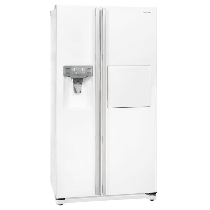 Side by Side refrigerator-freezer combination CRUSHED ICE water connection white DAEWOO FRN-Z22GW  – Bild 1