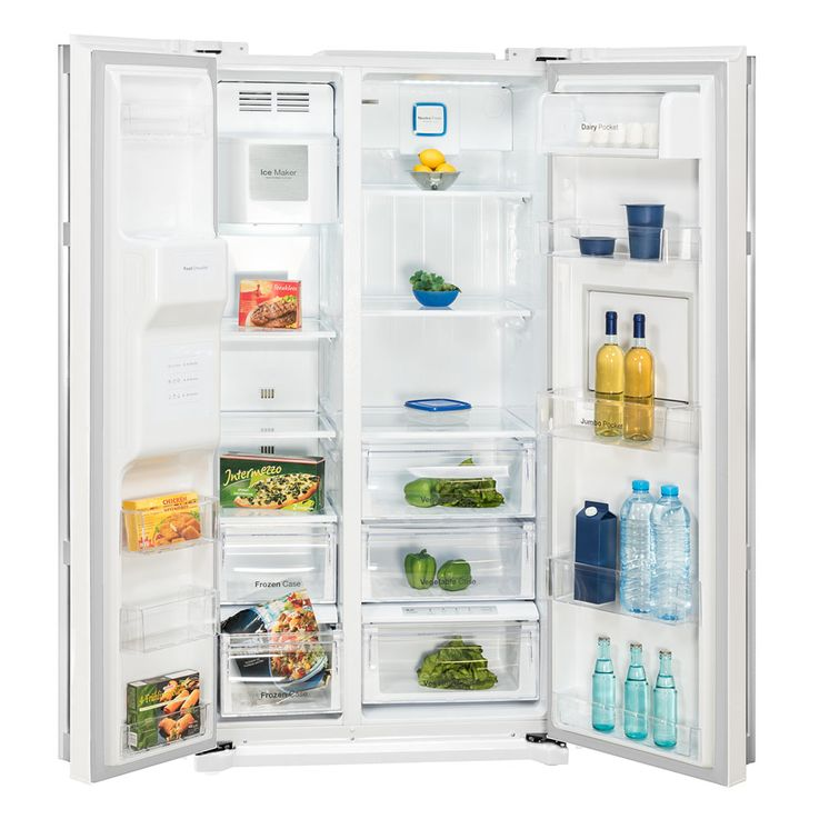 Side by Side refrigerator-freezer combination CRUSHED ICE water connection white DAEWOO FRN-Z22GW  – Bild 2