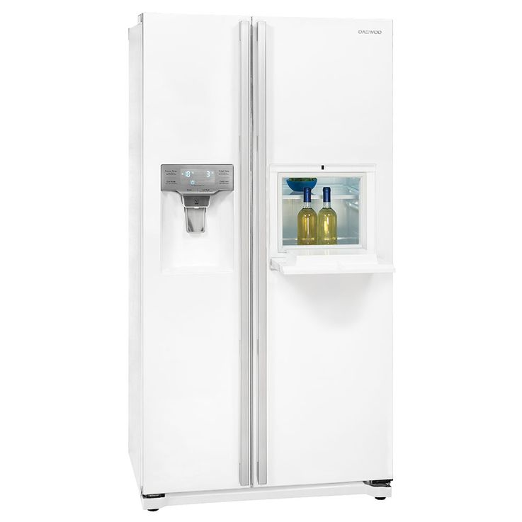 Side by Side refrigerator-freezer combination CRUSHED ICE water connection white DAEWOO FRN-Z22GW  – Bild 3