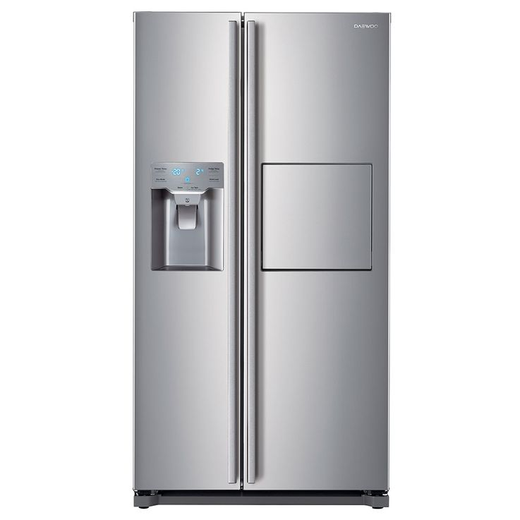 Side by Side refrigerator-freezer combination CRUSHED ICE water connection silver DAEWOO – Bild 1