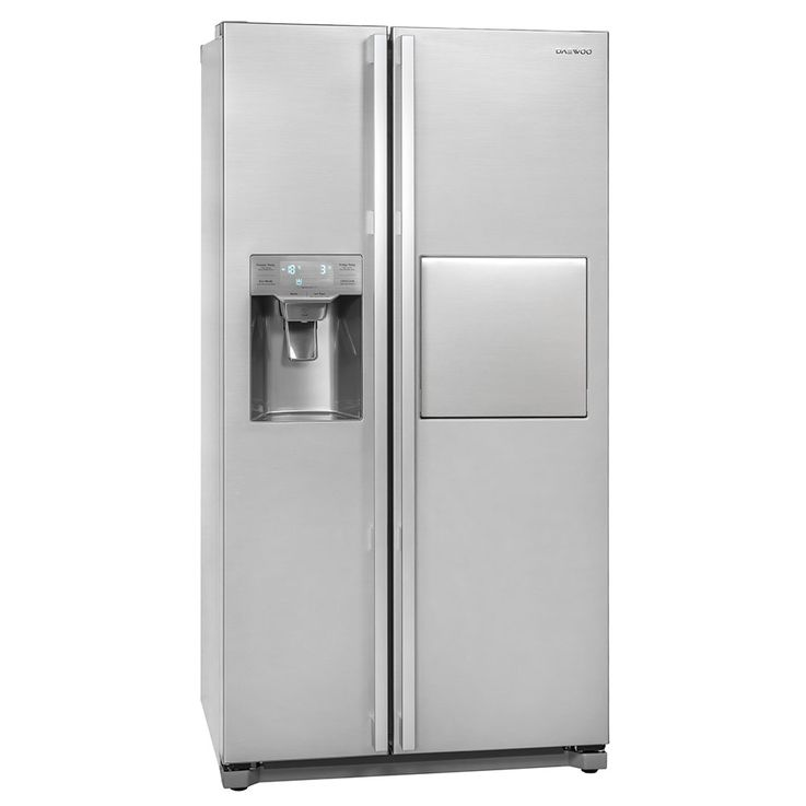 Side by Side refrigerator-freezer combination CRUSHED ICE bar compartment circulating air water tank – Bild 1