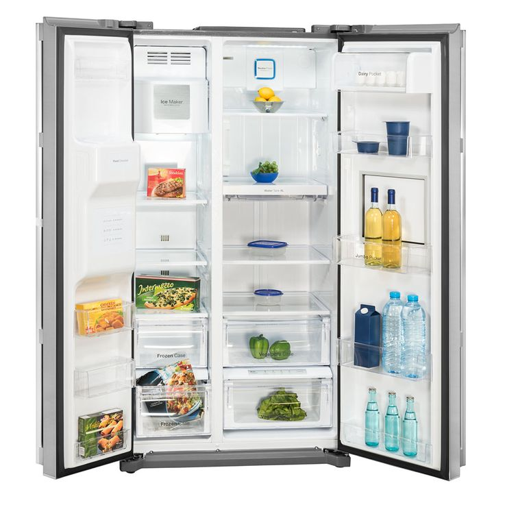 Side by Side refrigerator-freezer combination CRUSHED ICE bar compartment circulating air water tank – Bild 3