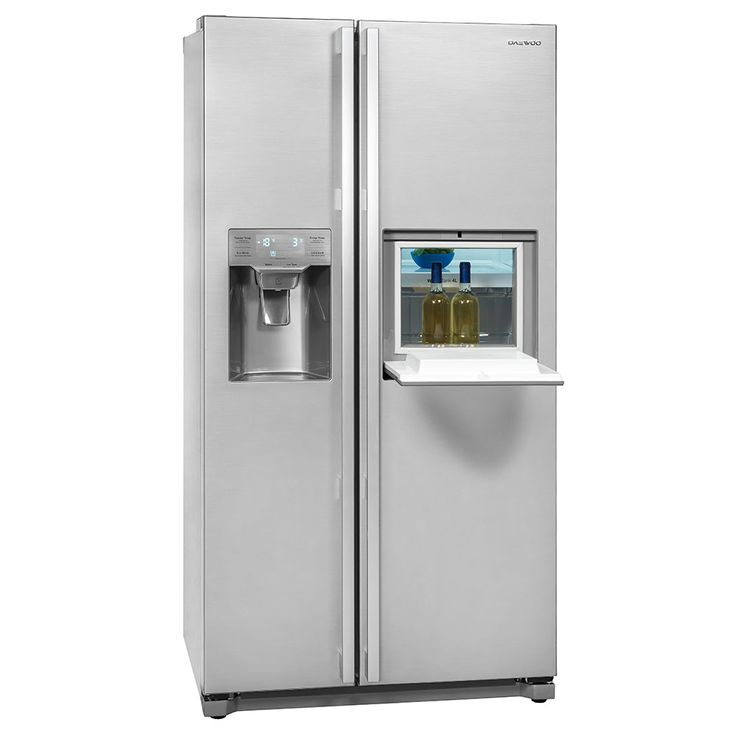 Side by Side refrigerator-freezer combination CRUSHED ICE bar compartment circulating air water tank – Bild 2