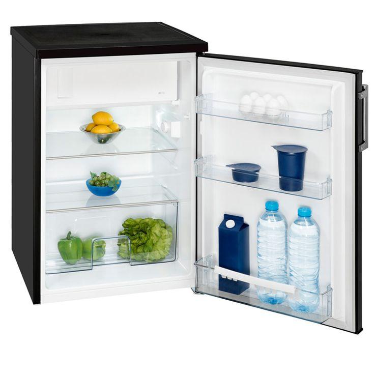 Stand Design Kompakt Kühlschrank 141 Liter Kapazität Exquisit KS16-1 A++ schwarz-matt  – Bild 2