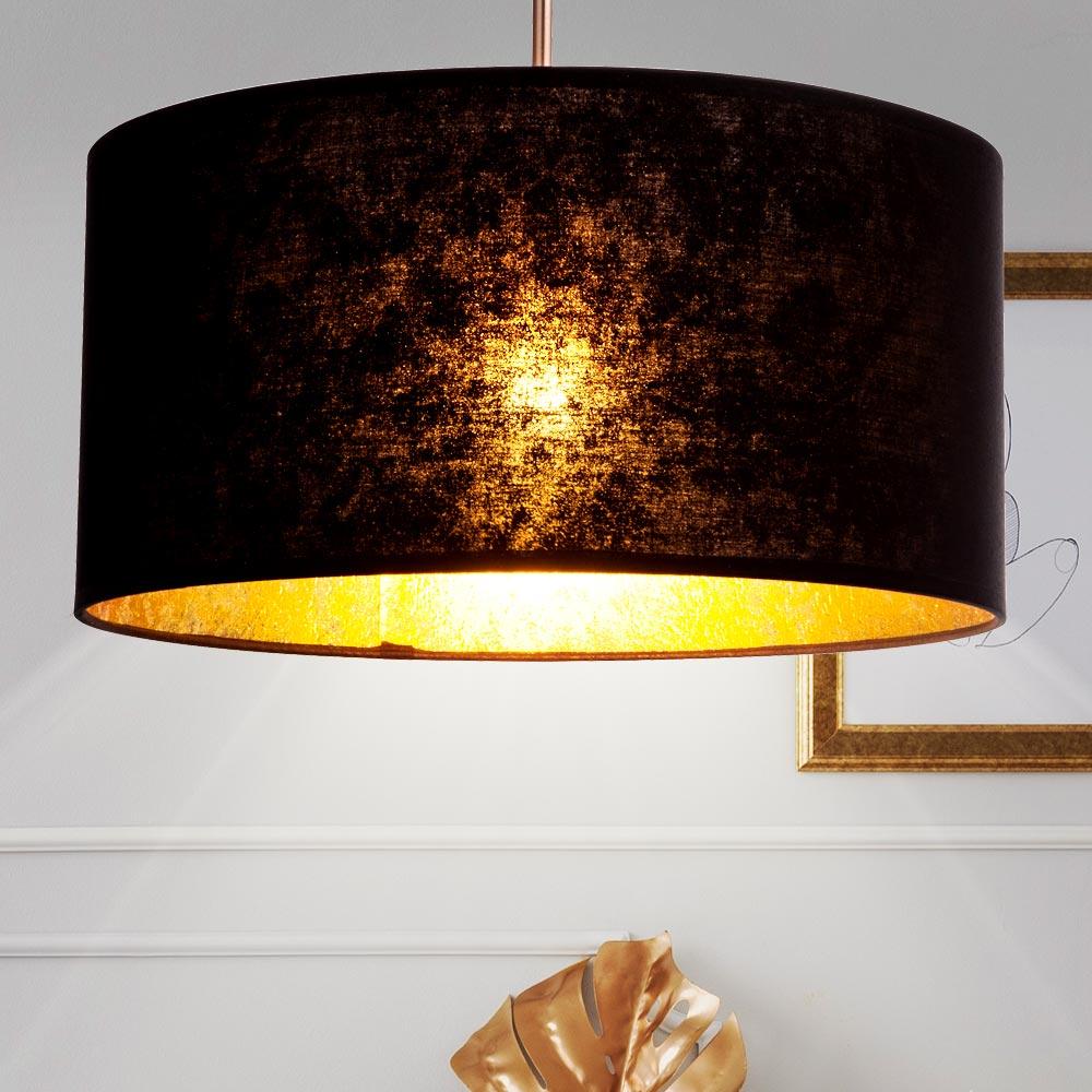 Leuchten & Leuchtmittel LED Decken Hänge Leuchte SCHWARZ GOLD