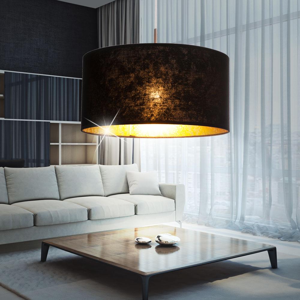 led textil decken hänge lampe wohnzimmer beleuchtung