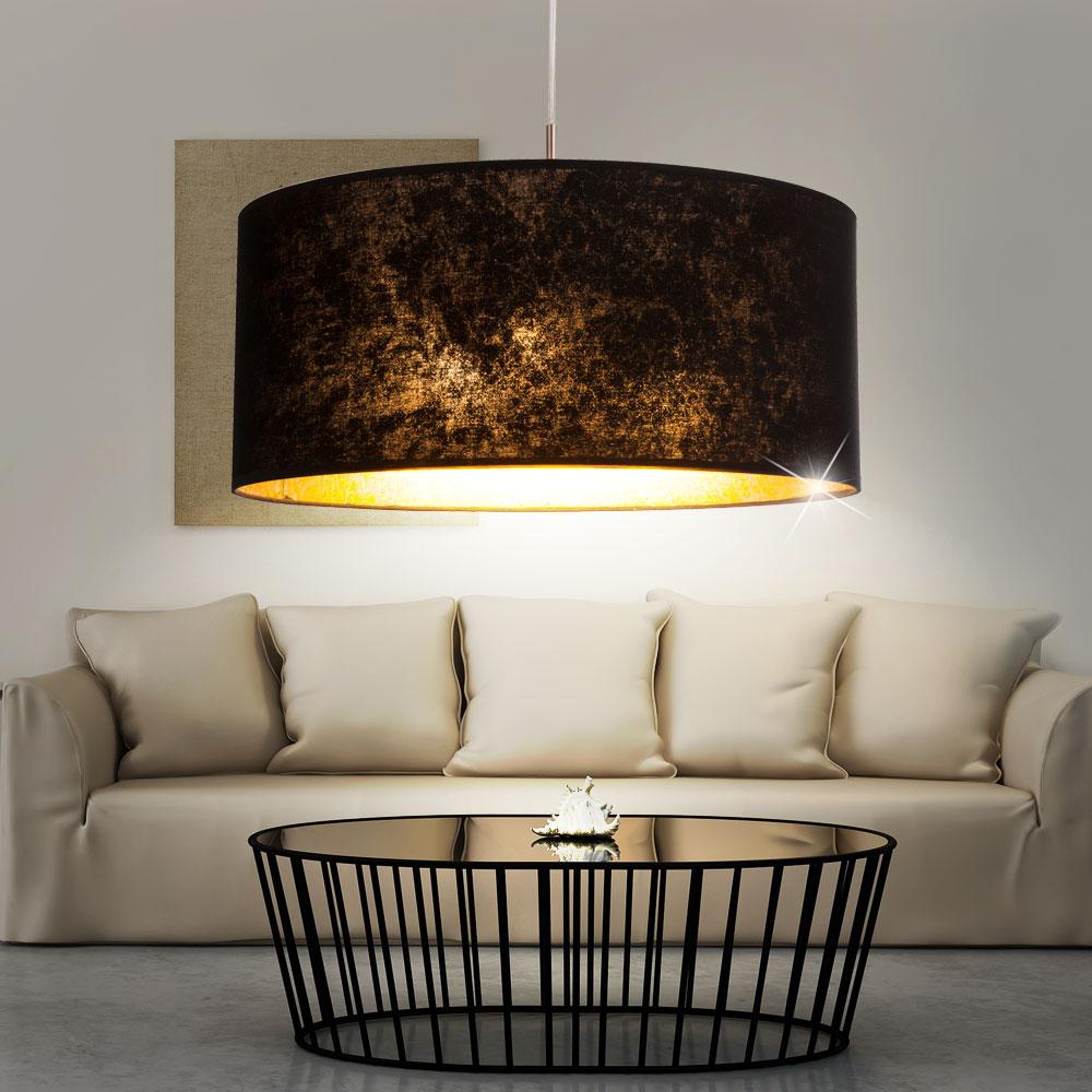 Luxe suspendu couvrir pied mur lampe de table sommeil chambre couloir noir or ebay Decoration noir or luxe classe
