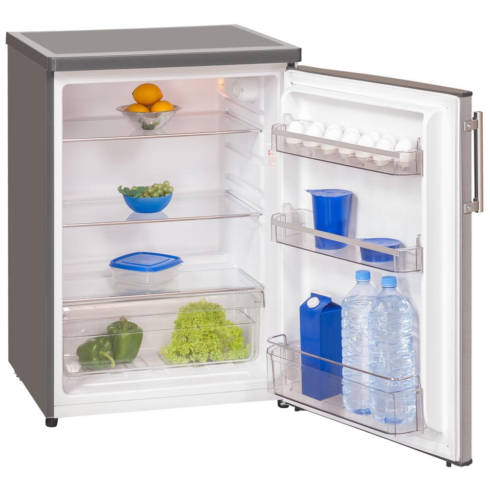 Exquisit Vollraum-Kühlschrank KS 18-4 RVA++ Inox look Küche ...