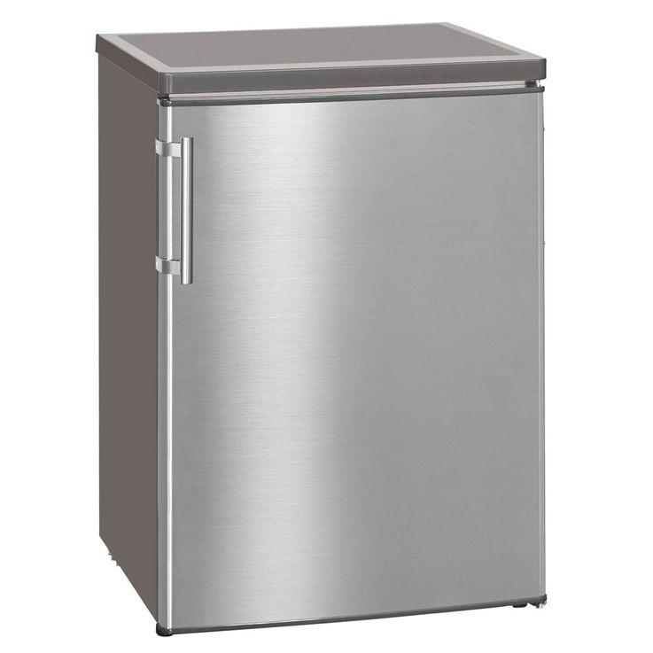 Exquisit Vollraum-Kühlschrank KS 18-4 RVA++ Inox look Standgerät kompakt Höhe 85 cm  – Bild 2