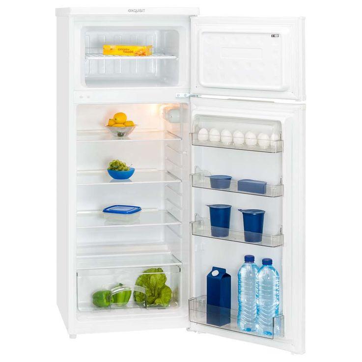 Exquisit 4*-Kühl-Gefrier-Kombination weiß 212l 172 kWh/Jahr KGC 270/45-4.1 A++ – Bild 1